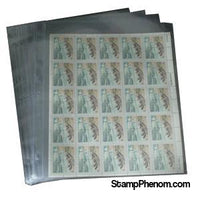 1 Pocket Mint Sheet Archival Polyproplyene Pages, Clear-Binders & Sheets-Supersafe-StampPhenom