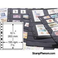 1 Pocket VARIO Sheets, Black-Binders & Sheets-Lighthouse-StampPhenom