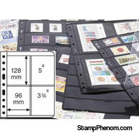 4 Pocket vertical VARIO Sheets, Black-Binders & Sheets-Lighthouse-StampPhenom