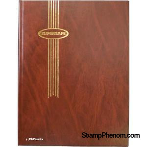 Supersafe Stockbook - 64 White Pages (Brown)-Stockbooks-Supersafe-StampPhenom