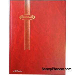 Supersafe Stockbook - 32 Black Pages (Red)-Stockbooks-Supersafe-StampPhenom