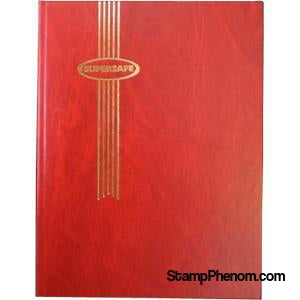 Supersafe Stockbook - 64 Black Pages (Red Padded Cover)-Stockbooks-Supersafe-StampPhenom