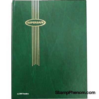 Supersafe Stockbook - 64 Black Pages (Green Padded Cover)-Stockbooks-Supersafe-StampPhenom