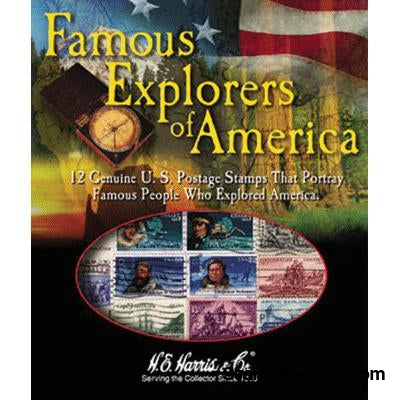 Famous Explorers of America-Stamp Packets-HE Harris & Co-StampPhenom