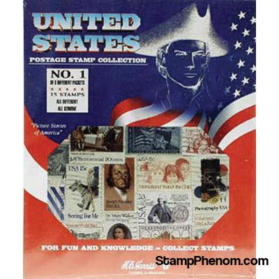 United States Postage Stamp Collection-Stamp Packets-HE Harris & Co-StampPhenom