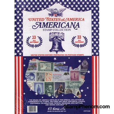 Americana Stamp Collection-Stamp Packets-HE Harris & Co-StampPhenom