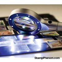 Large Round LED Magnifier-Stamp Tools & Accessories-Lighthouse-StampPhenom