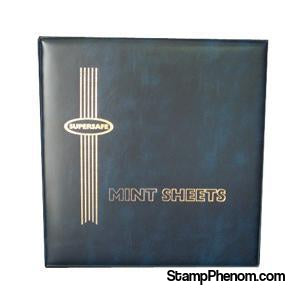 MA1 - Deluxe Mint Sheet Album, 100 Sheets (Blue)-Mint Sheets & Album-Supersafe-StampPhenom