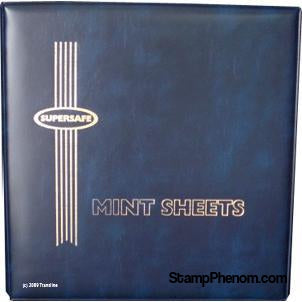 Deluxe Mint Sheet Binder Only (Blue)-Mint Sheets & Album-Supersafe-StampPhenom