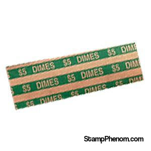 Flat Dime Coin Wrappers-Coin Wrappers & Tools-Transline-StampPhenom