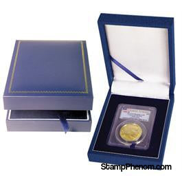 Leatherette Display Box - 1 Slab Universal-Display Boxes for Certified Coins-Guardhouse-StampPhenom