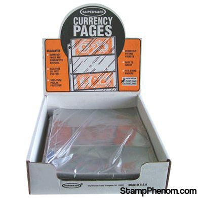 3 Pocket Pages (Archival) - Large Currency-Notebook Pages & Binders-Supersafe-StampPhenom