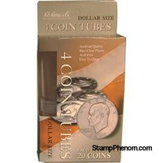 4 Round Coin Tube - Dollar-Coin Tubes-HE Harris & Co-StampPhenom