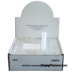 Numis Square Coin Tube -Cent-100/bx-Coin Tubes-Numis-StampPhenom