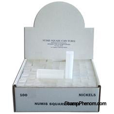 Numis Square Coin Tube -Nickel-100/bx-Coin Tubes-Numis-StampPhenom