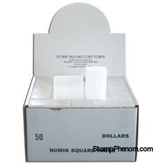 Numis Square Coin Tube -Dollar-50/box-Coin Tubes-Numis-StampPhenom