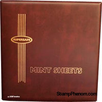 Deluxe Mint Sheet Binder Only (Red)-Mint Sheets & Album-Supersafe-StampPhenom