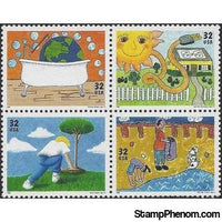 United States of America 1995 Earth Day Anniversary-Stamps-United States of America-Mint-StampPhenom