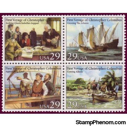 United States of America 1992 First Voyage of Christopher Columbus 1492-Stamps-United States of America-Mint-StampPhenom