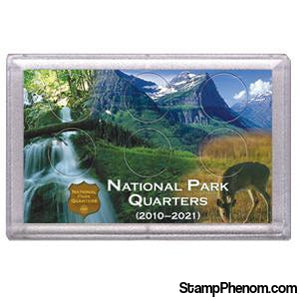 National Parks Deer and Meadow Design Frosty Case - 6 Hole-Coin Holders & Capsules-HE Harris & Co-StampPhenom