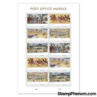 United States of America - Post Office Murals - Pane of 10-Stamps-USPS-StampPhenom