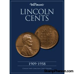 Lincoln Cents 1909-1958-Coin Albums-Warmans-StampPhenom