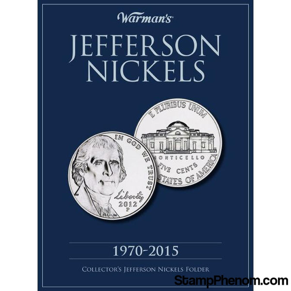 Jefferson Nickels 1970-2015-Coin Albums-Warmans-StampPhenom