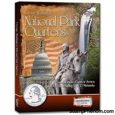 Coin Album - National Park Quarters Album 2010-2021. P&D-Coin Albums-Cornerstone-StampPhenom