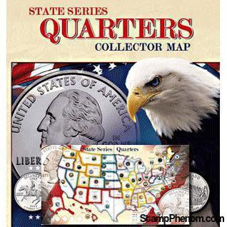 State Quarter Series Quarters Collector Map-Collector Maps, Archives, Kits & Boards-Whitman-StampPhenom