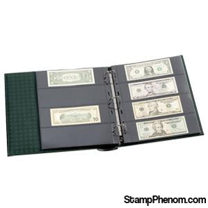 Lighthouse Grande 4 Pocket Currency Album - Green-Slab and Currency Albums-Lighthouse-StampPhenom