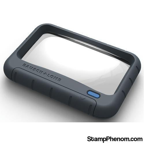 Rectangular LED Magnifier - 2x, 2x4-Loupes and Magnifiers-Bausch & Lomb-StampPhenom