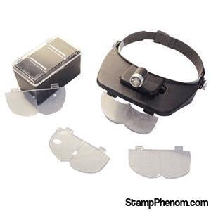 Versatile Headband Magnifier With LED Lighted-Loupes and Magnifiers-Transline-StampPhenom