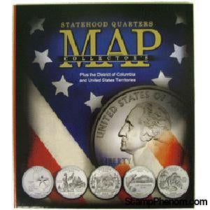 Compact Version State Quarters Collectors Map-Collector Maps, Archives, Kits & Boards-Whitman-StampPhenom