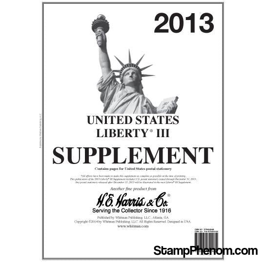Liberty III Supplement 2013-Album Supplements-HE Harris & Co-StampPhenom