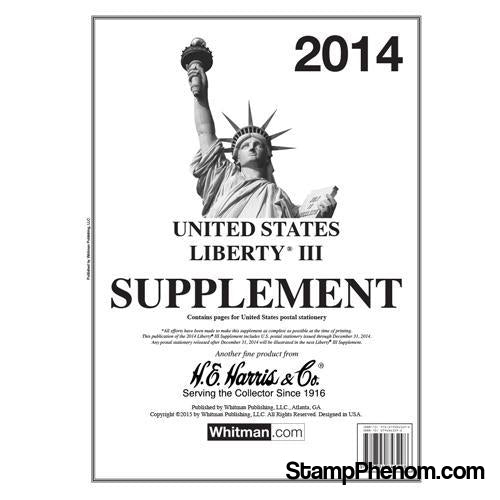 2014 Liberty III Supplement-Album Supplements-HE Harris & Co-StampPhenom
