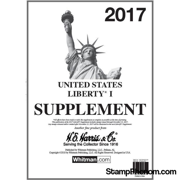 2017 Liberty I Supplement-Albums-HE Harris & Co-StampPhenom