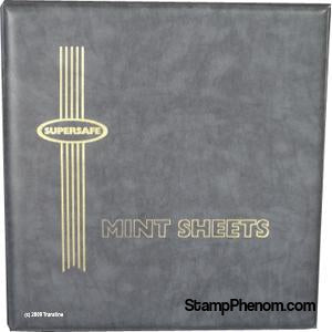 Deluxe Mint Sheet Binder Only (Grey)-Mint Sheets & Album-Supersafe-StampPhenom
