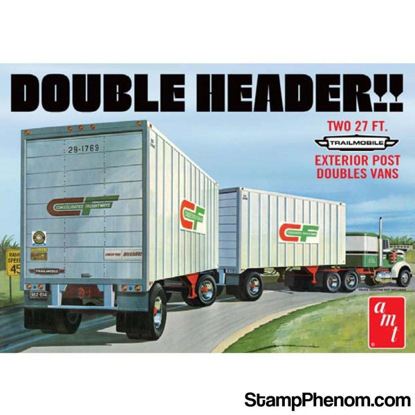 AMT - Double Header Van Trailers 1:25-Model Kits-AMT-StampPhenom
