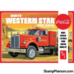 AMT - White Western Star Tractor (Coca Cola) 1:25-Model Kits-AMT-StampPhenom