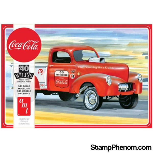 AMT - '40 Willys Pickup Gasser Coca-Cola 1:25-Model Kits-AMT-StampPhenom