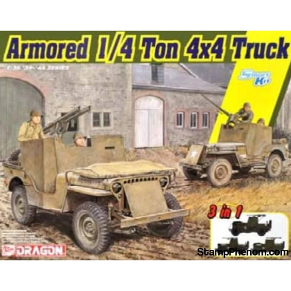 Dragon - Armored 1/4 Ton 4x4 Truck 1:35-Model Kits-Dragon-StampPhenom