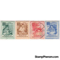 Indonesia 1956 Blind Relief Fund-Stamps-Indonesia-StampPhenom