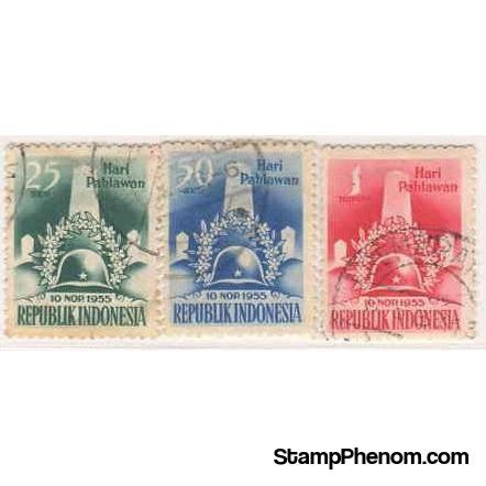 Indonesia 1955 Hero's Day-Stamps-Indonesia-StampPhenom