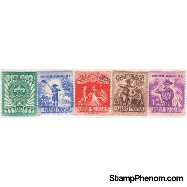 Indonesia 1955 National Scout Jamboree-Stamps-Indonesia-StampPhenom