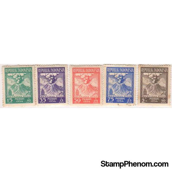 Indonesia 1954 Natural Disasters Relief Fund-Stamps-Indonesia-StampPhenom