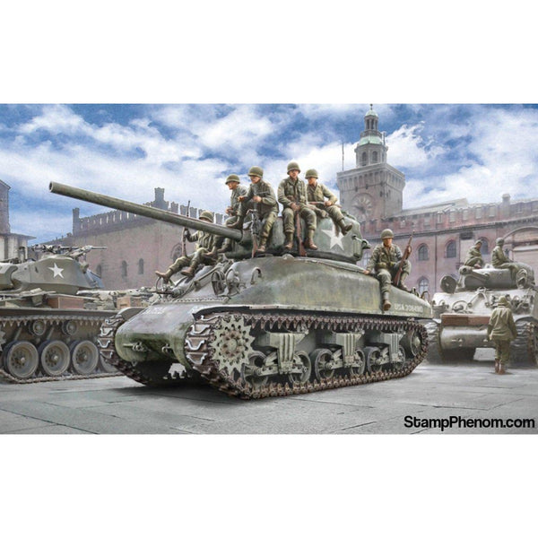 Italeri - M4A1 Sherman With US Infantry 1:35-Model Kits-Italeri-StampPhenom