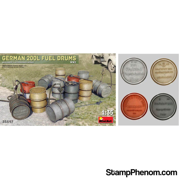 MiniArt - German 200L Fuel Drums World War II 1:35-Model Kits-MiniArt-StampPhenom