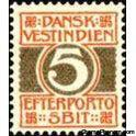 Danish West Indies 1905 Postage due, numeral type-Stamps-Danish West Indies-Mint-StampPhenom