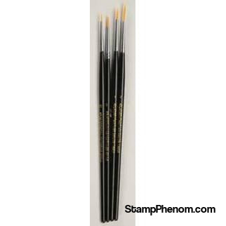 Atlas Brush - Red Sable Brush Set 4pcs-Paint & Supplies-Atlas Brush-StampPhenom