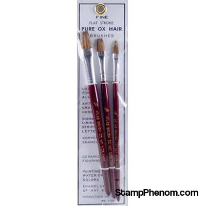 Atlas Brush - Ox Hair Flat Brush Set 3pcs-Paint & Supplies-Atlas Brush-StampPhenom